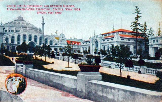 Vintage World's Fair postcard - Alaska–Yukon–Pacific Exposition (1909)