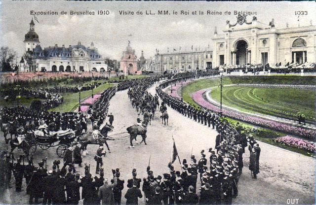 Vintage World's Fair postcard - Brussels (1910)