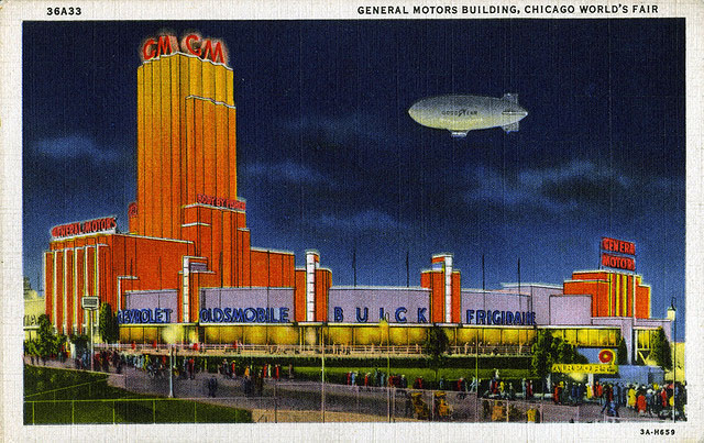 Vintage World's Fair postcard - Chicago (1933/34)