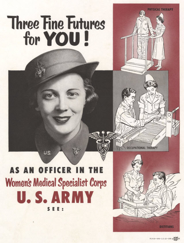 Korean War recruitment poster - Women's Medical Specialist Corps U.S. Army