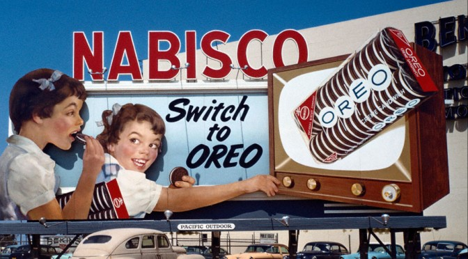 Beautiful Billboards #2: Oreo Cookies, 1950s
