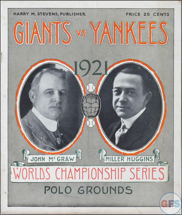 New York Giants World Series Program - 1921