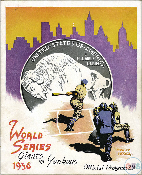 New York Giants World Series Program - 1936
