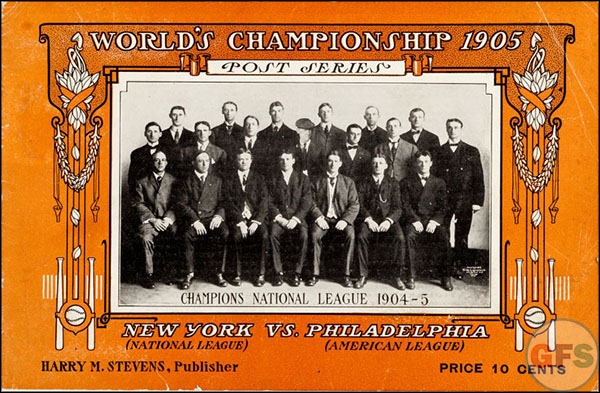 New York Giants World Series Program - 1905