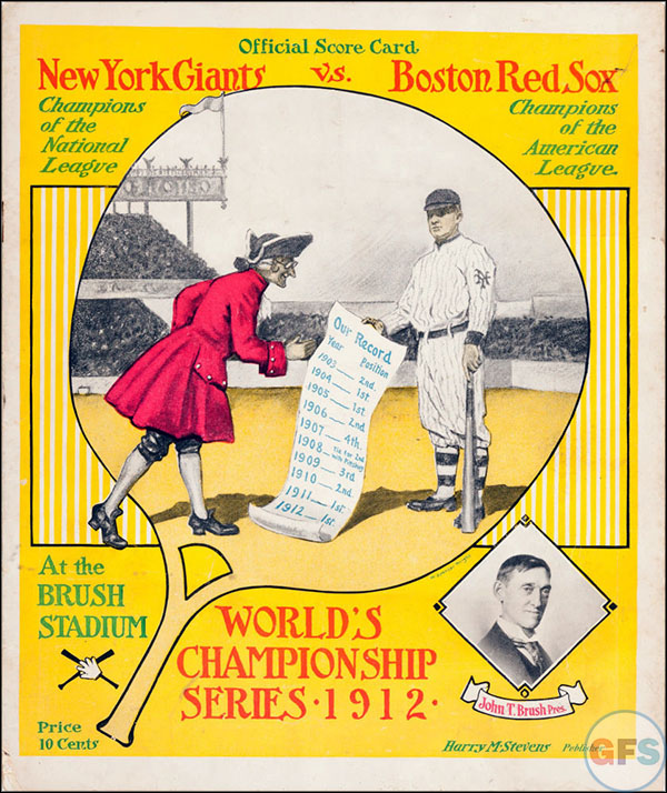 New York Giants World Series Program - 1912