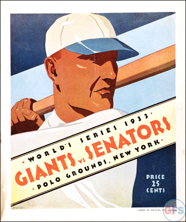 New York Giants World Series Program - 1933