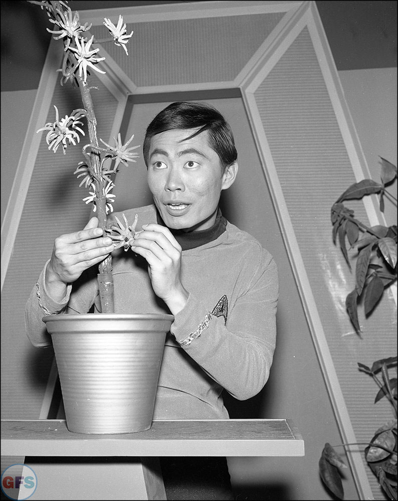 Mr. Sulu (George Takei) on the set of Star Trek: The Original Series