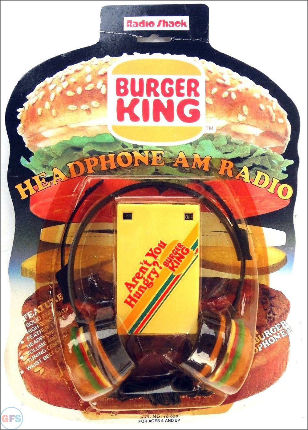 Vintage 1983 Radio Shack Burger King AM Radio