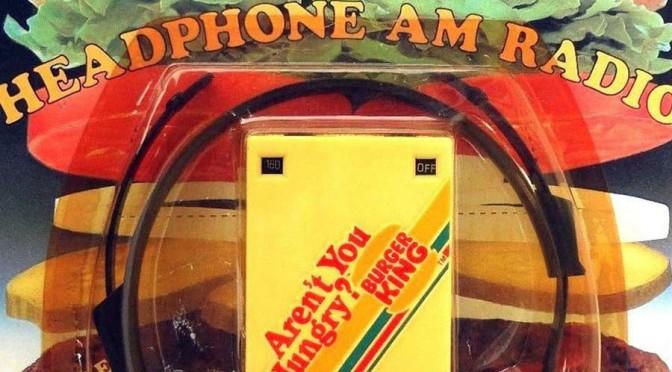 Vintage 1983 Radio Shack Burger King AM Radio