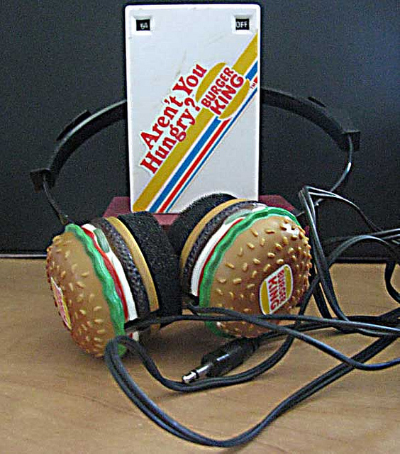 "Radio Shack :: ""BURGER KING"" HEADPHONE AM RADIO // ebay sample (( 1983 ))"