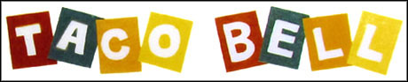 Taco Bell logo: 1962-1972