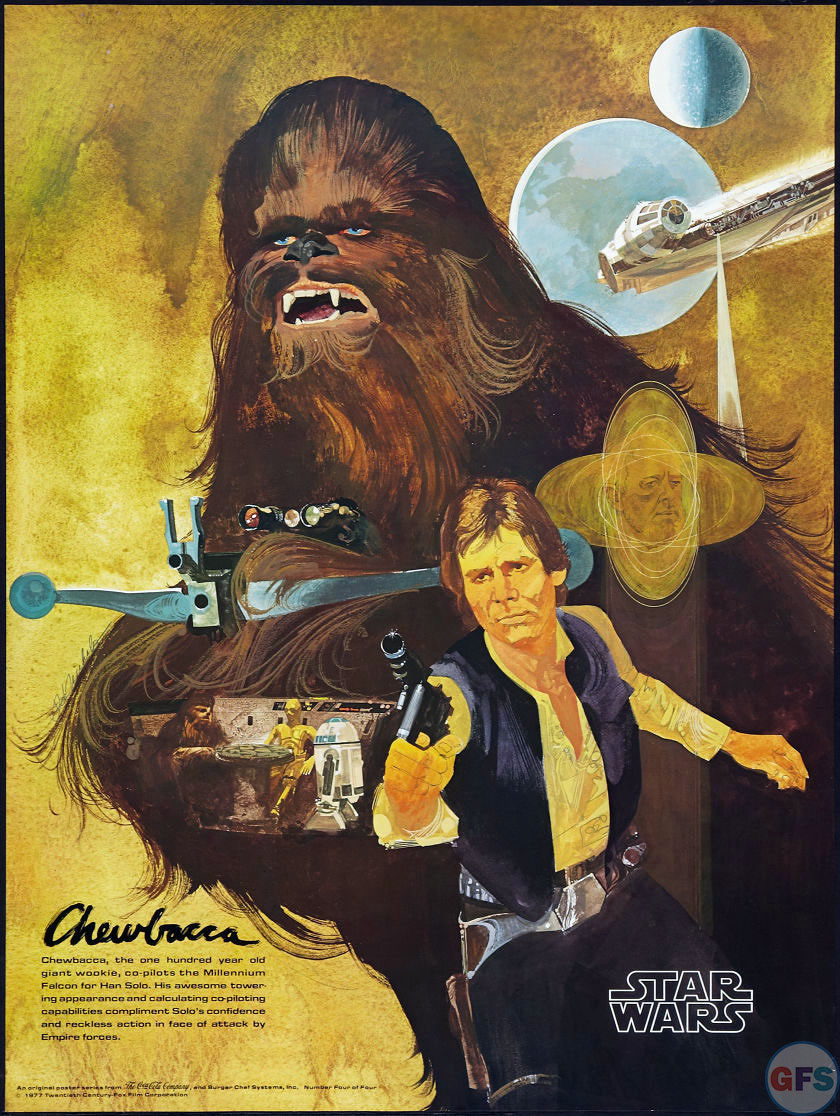 Chewbacca & Han Solo Coca-Cola Star Wars/Burger Chef Poster (1977)