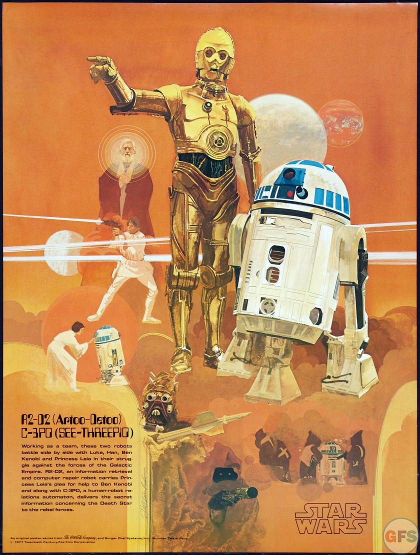 R2-D2 & C-3PO Star Wars/Burger Chef Poster (1977)