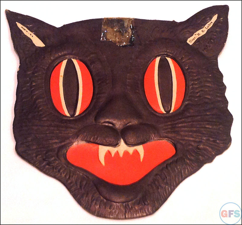 vintage beistle halloween decoration black cat