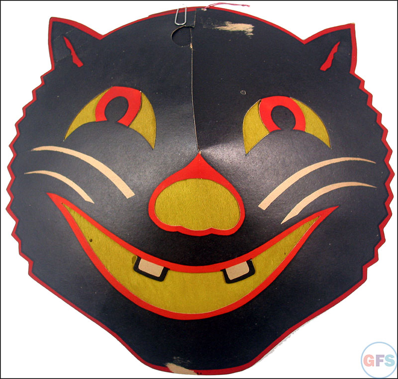 vintage beistle halloween decoration smiling cat - Beistle Halloween Decorations