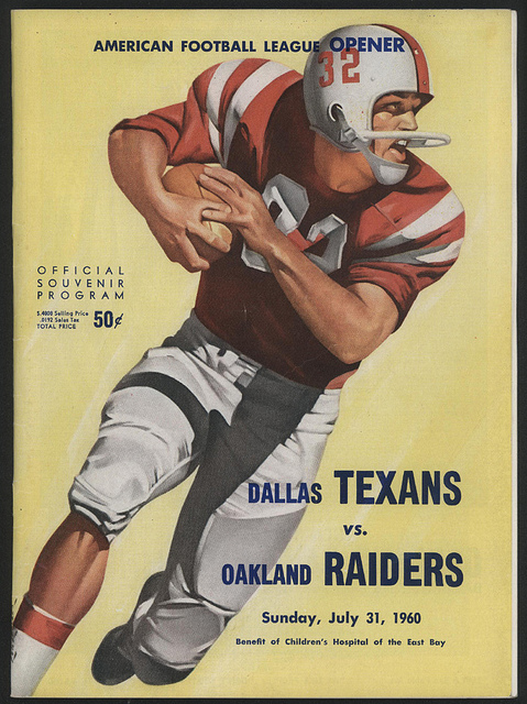 AFL program 1960-07-31 - Texans vs. Raiders