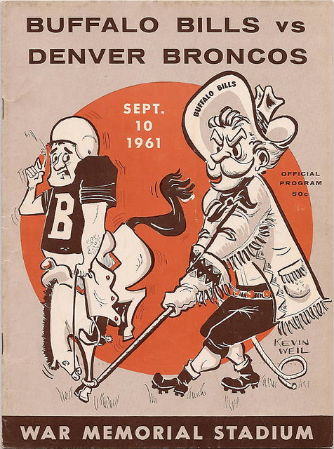 AFL program 1961-09-10 - Bills vs. Broncos