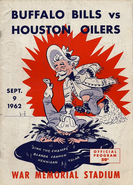 AFL program 1962-09-09 - Buffalo Bills vs. Houston Oilers