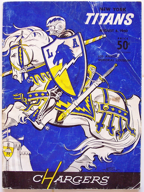 AFL program 1960-08-06 - Titans vs. Chargers
