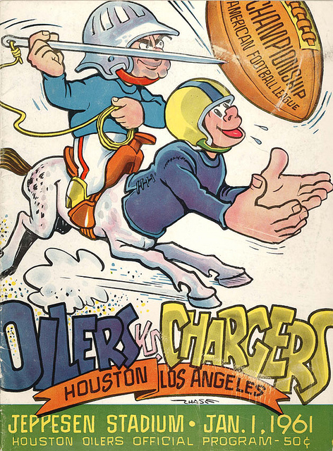 AFL program 1961-01-01 - Chargers vs. Oilers