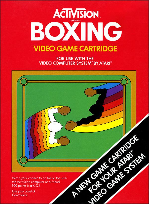 Activision Atari 2600 video game box cover - Boxing