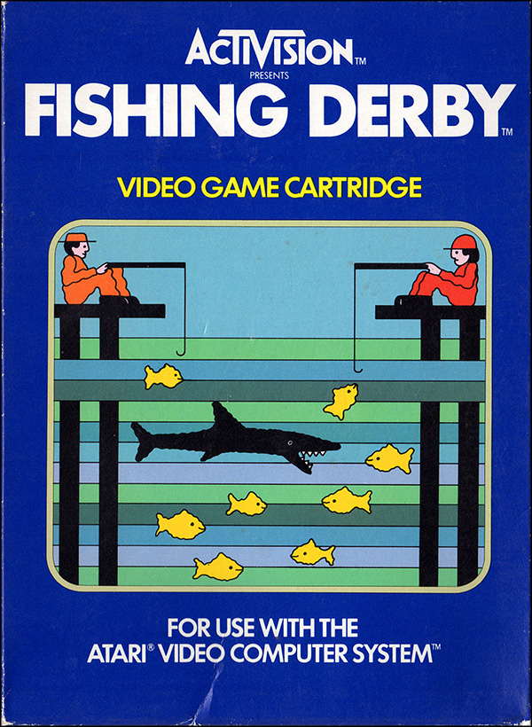 Activision Atari 2600 video game box cover - Fishing Derby
