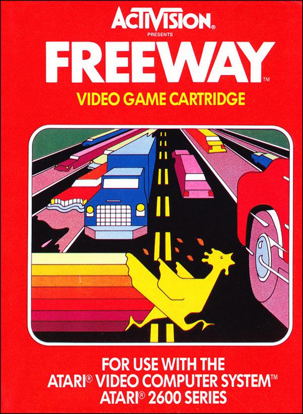 Activision Atari 2600 video game box cover - Freeway