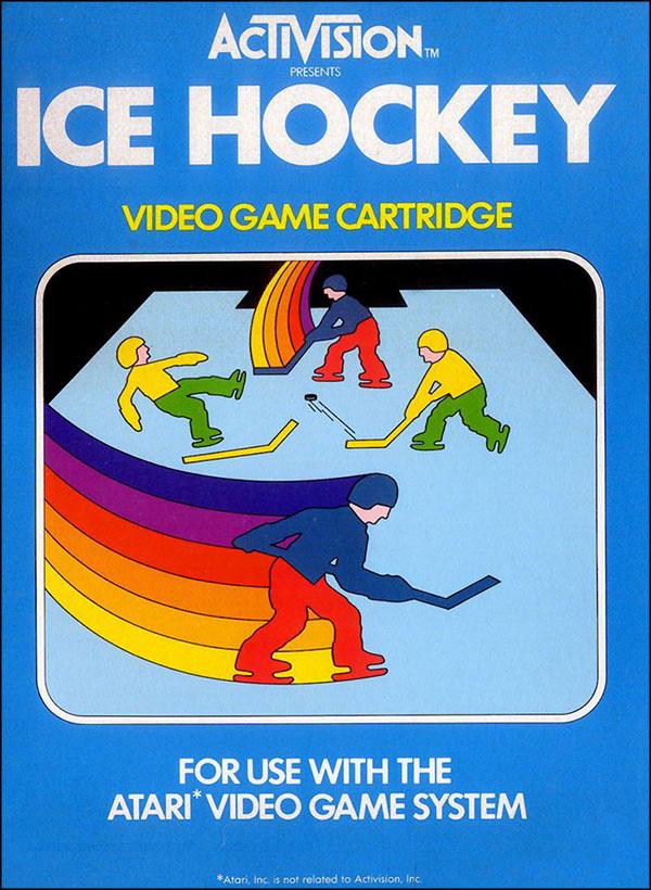 Activision Atari 2600 video game box cover - Ice Hockey