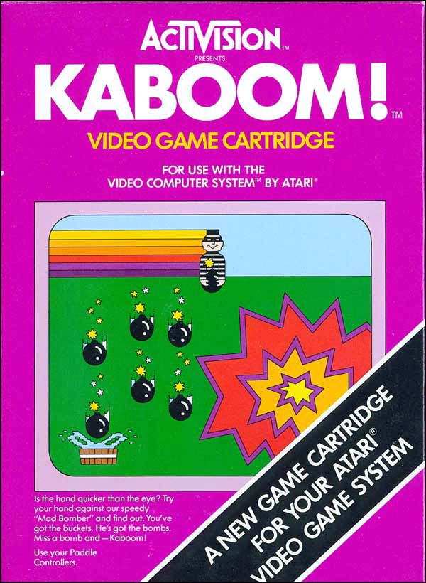 Activision Atari 2600 video game box cover - Kaboom!