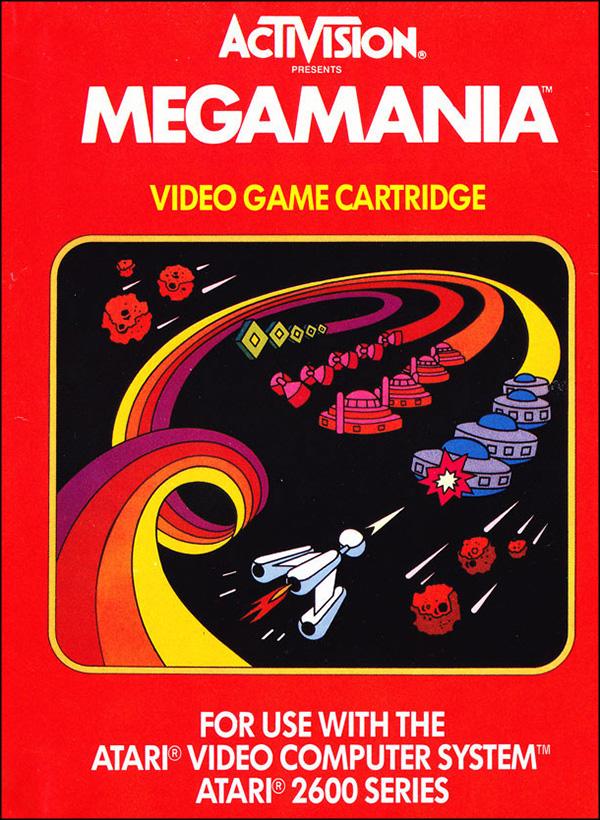 Activision Atari 2600 video game box cover - Megamania