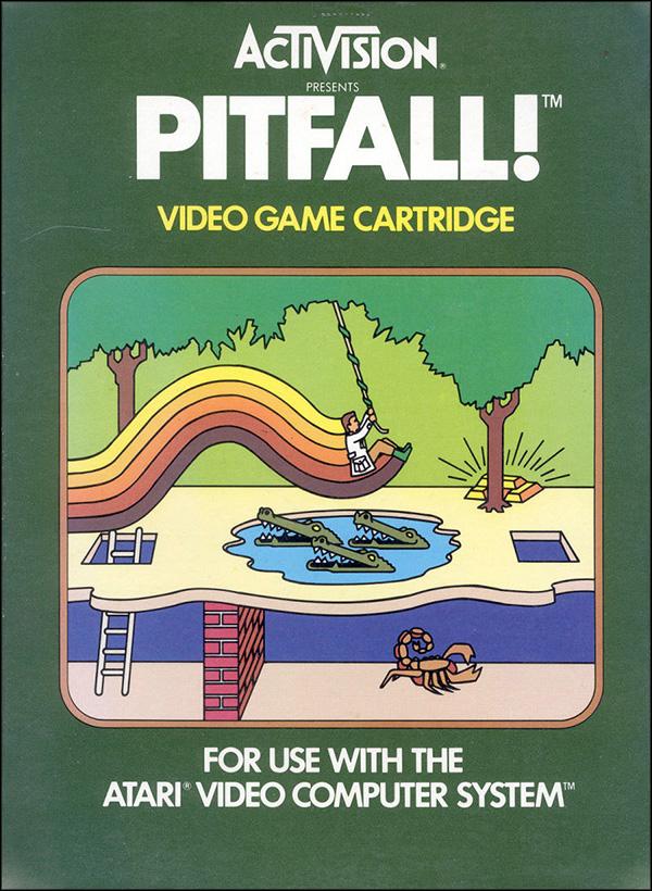 Activision Atari 2600 video game box cover - Pitfall!