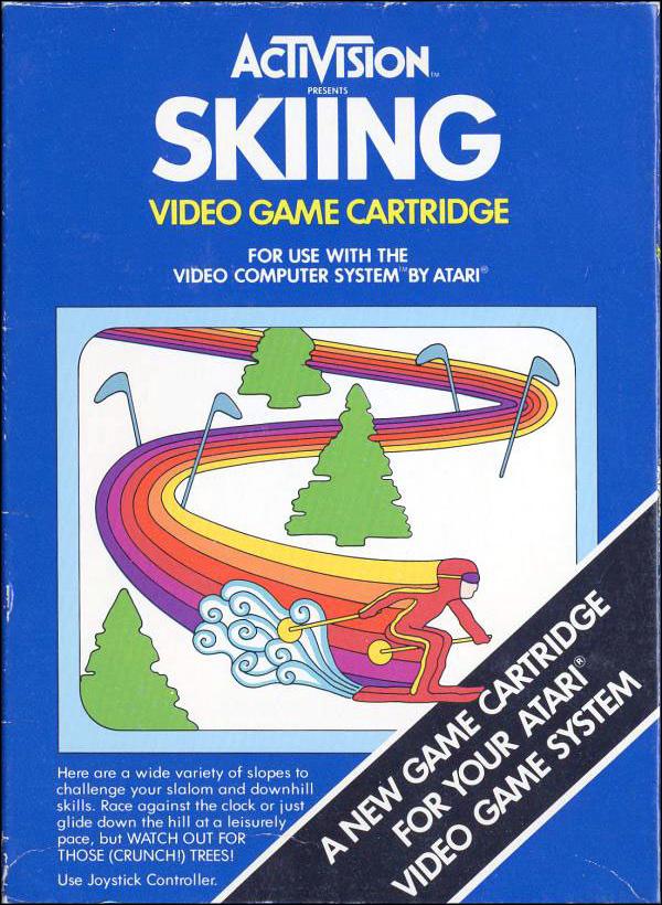 Activision Atari 2600 video game box cover - Skiing