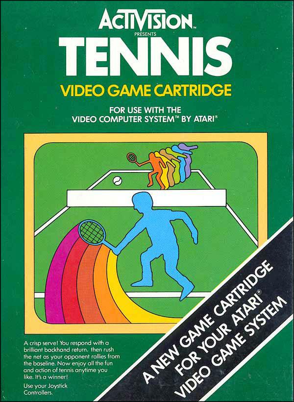 Activision Atari 2600 video game box cover - Tennis