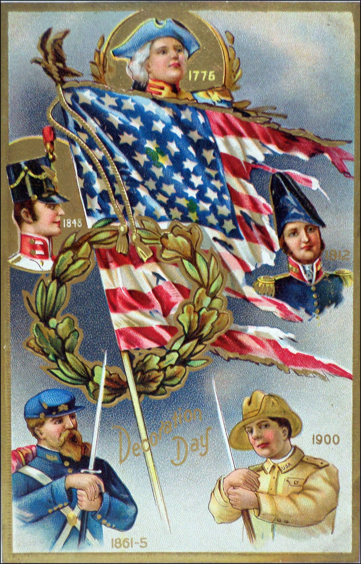 Antique vintage Memorial Day (Decoration Day) postcard