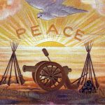 vintage memorial day postcard peace