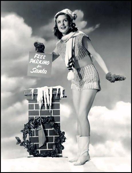 Vintage Christmas pinup - Joan Vohs