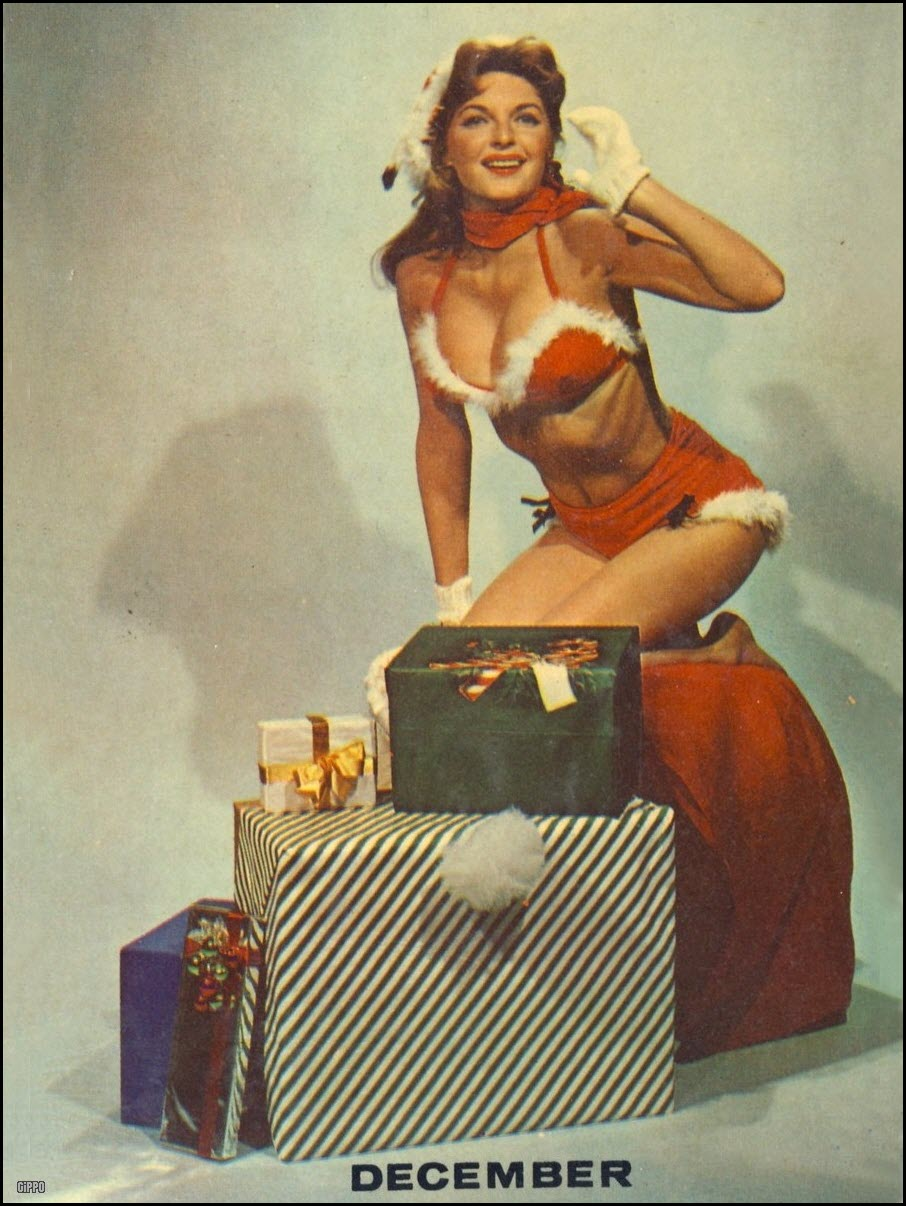 Vintage Christmas pinup - Julie London