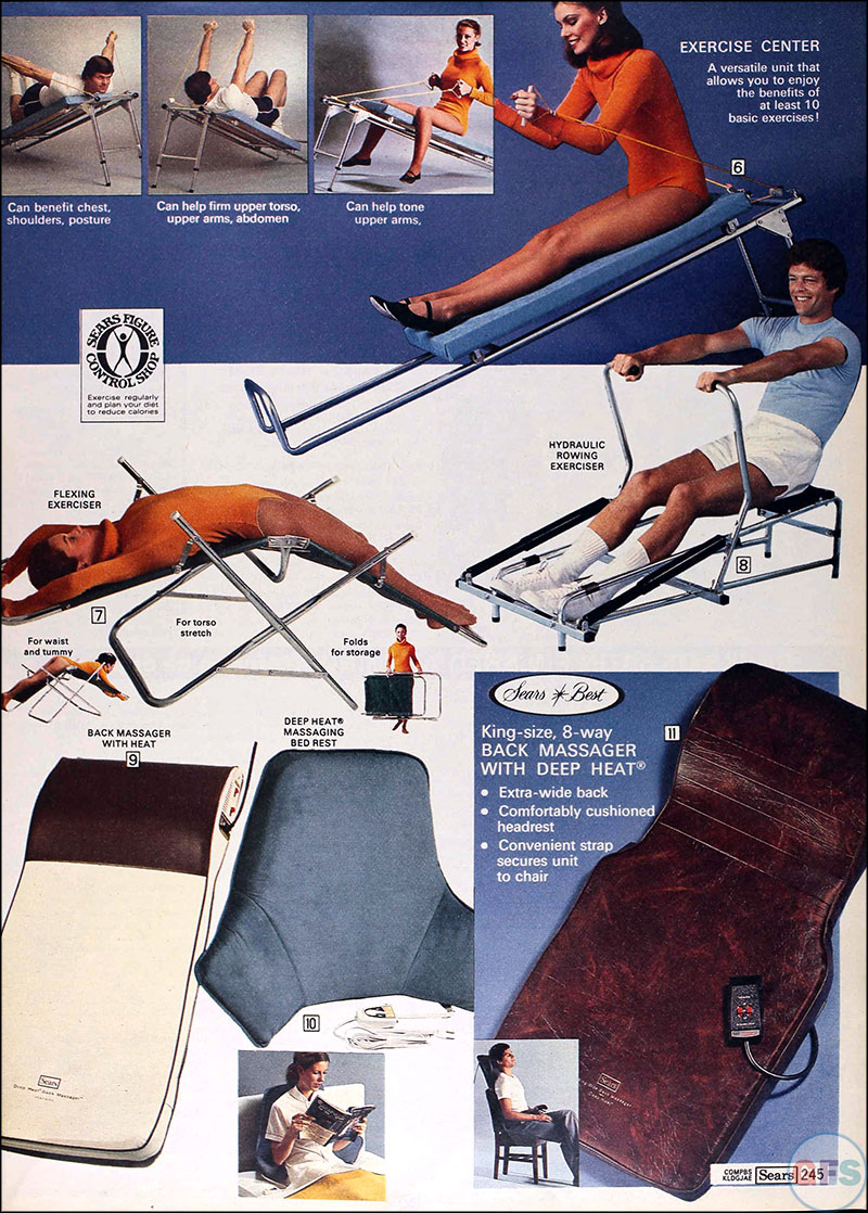 Late '70s Exercise Equipment from the Fall 1977 Sears catalog