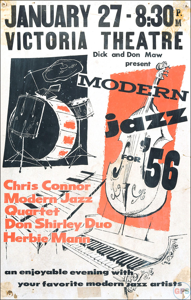 Outstanding Poster Art: Modern Jazz for '56 ...