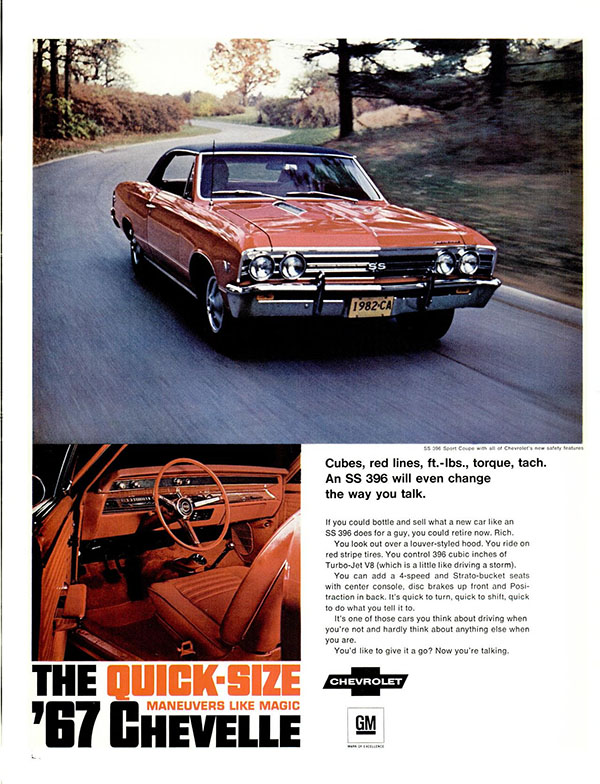 1967 Chevrolet Chevelle ad