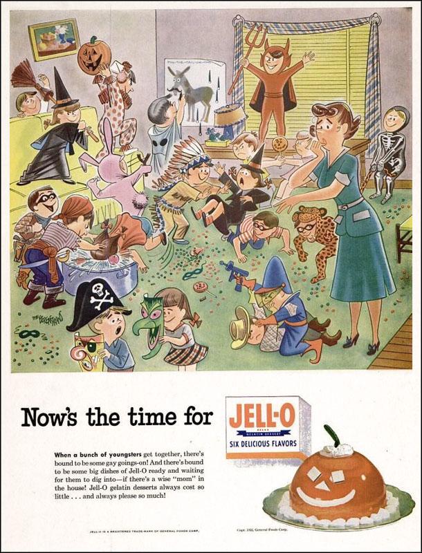 Vintage Halloween ad (Jell-O, 1952)