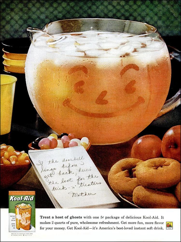 Vintage Halloween ad (Kool-Aid, 1961)