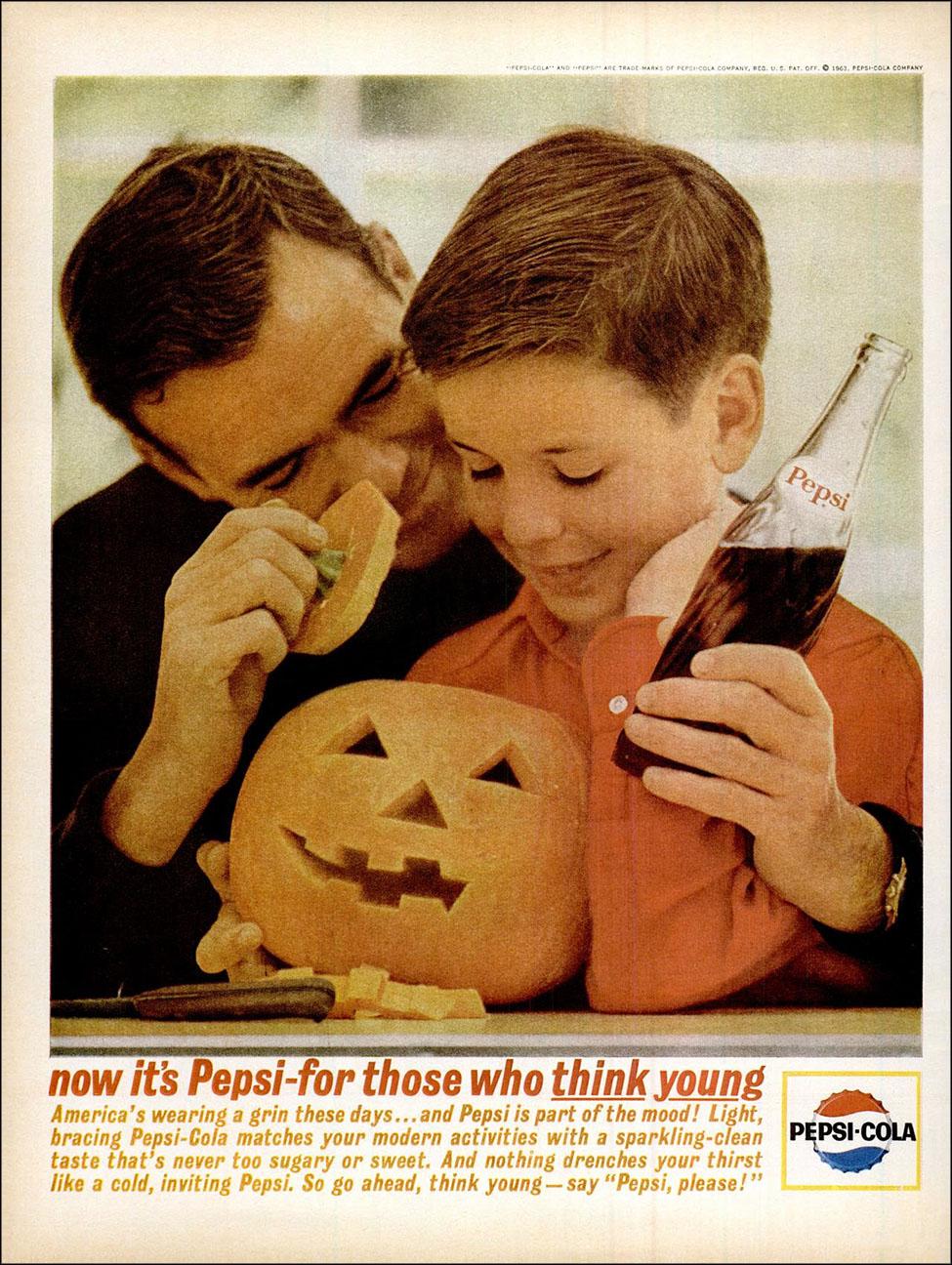 Vintage Halloween ad (Pepsi, 1963)
