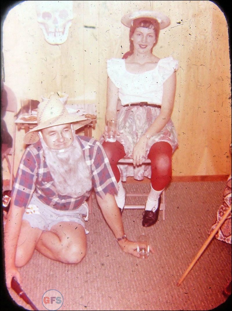 Vintage Halloween Costume Slide
