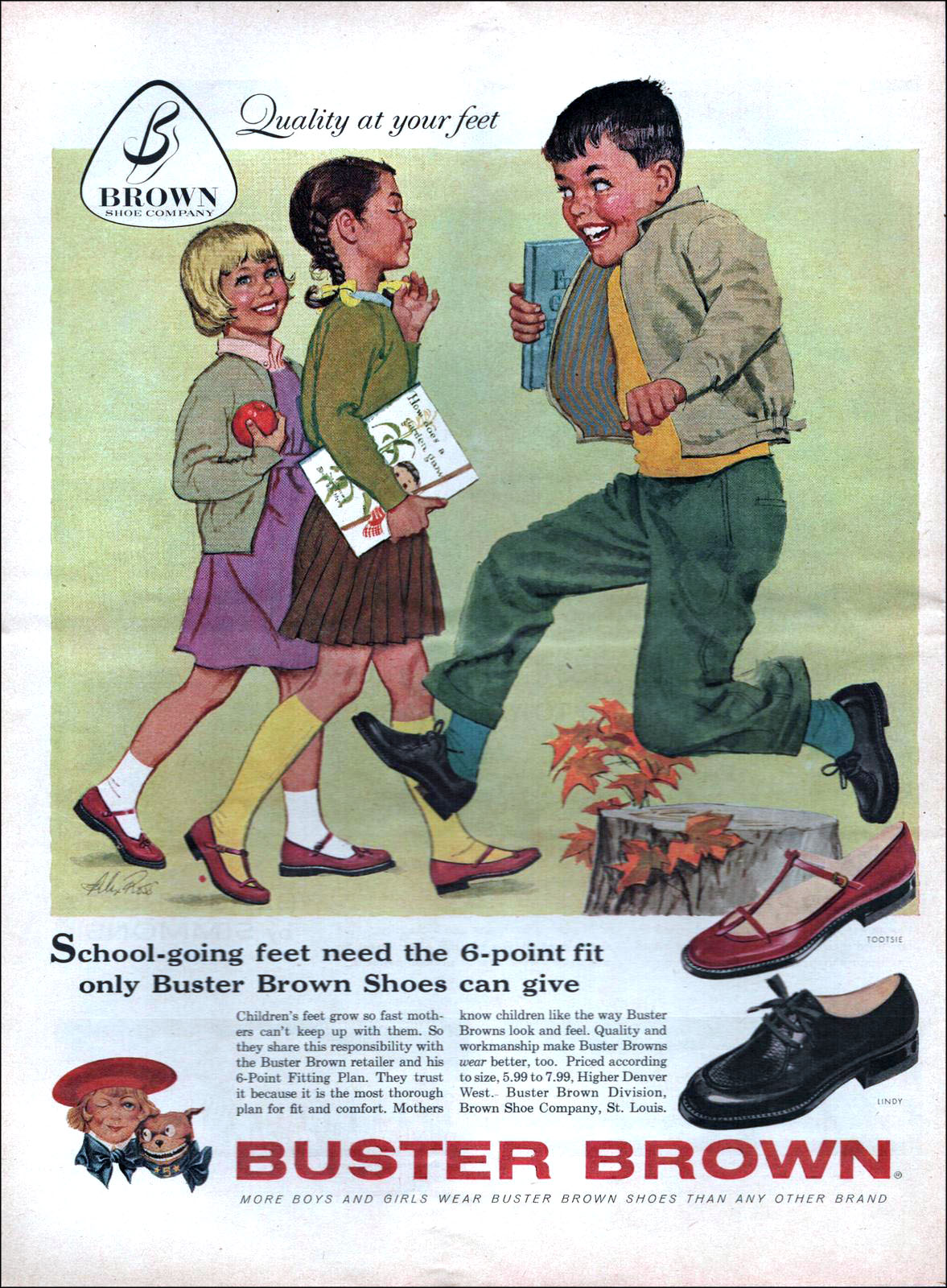 Vintage back to school ad