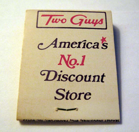 Two Guys matchbook cover