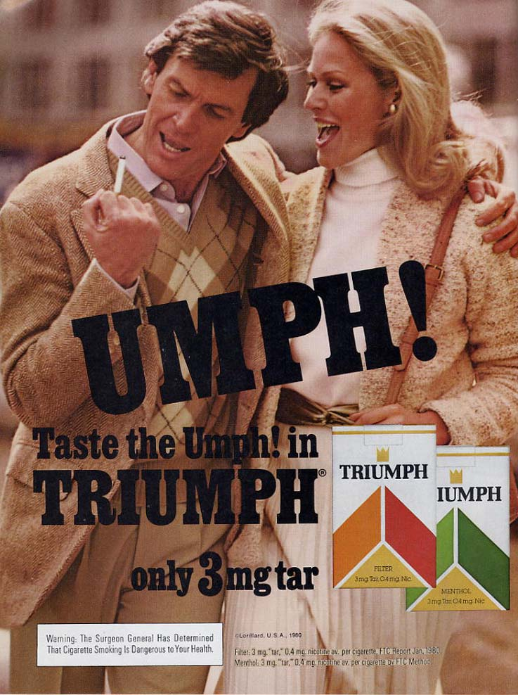 Retrotisement – Triumph cigarettes