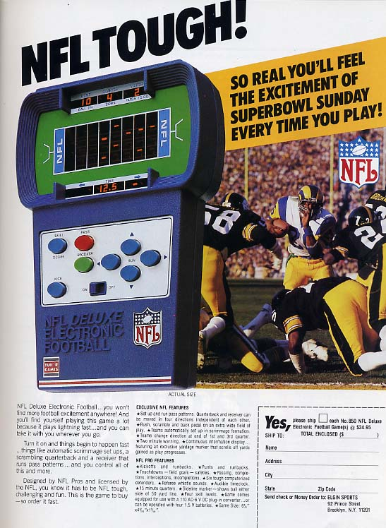 Retrotisement – NFL Deluxe Electronic Football