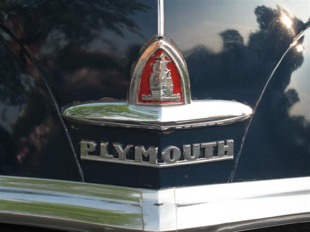 1947 Plymouth logo badge