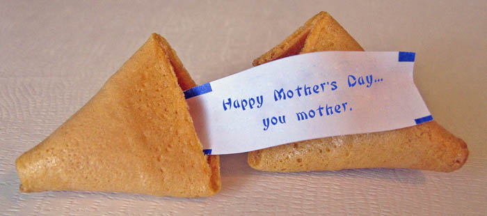 Mother's Day fortune cookie